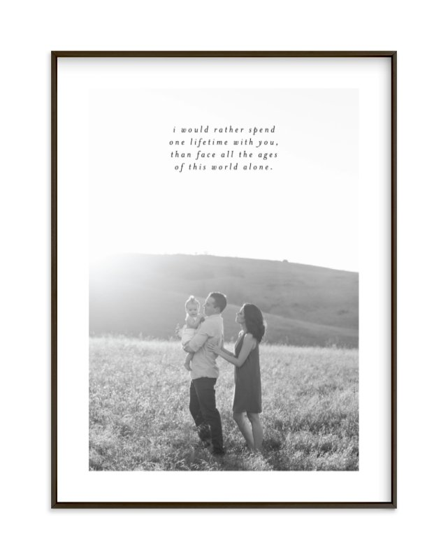 Minimalist Quote Keepsake Custom Photo Art Print