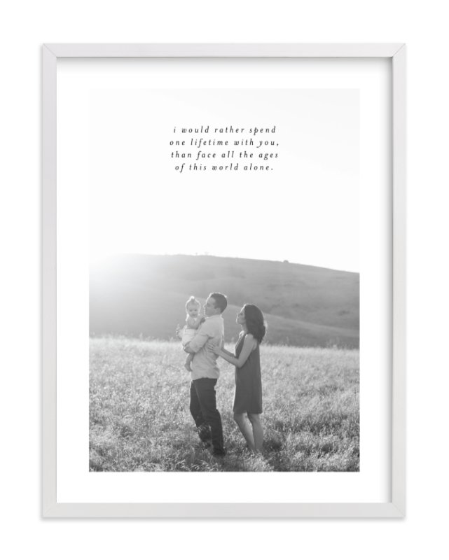"""Minimalist Quote Keepsake"" - Custom Photo Art Print by Phrosne Ras in beautiful frame options and a variety of sizes."