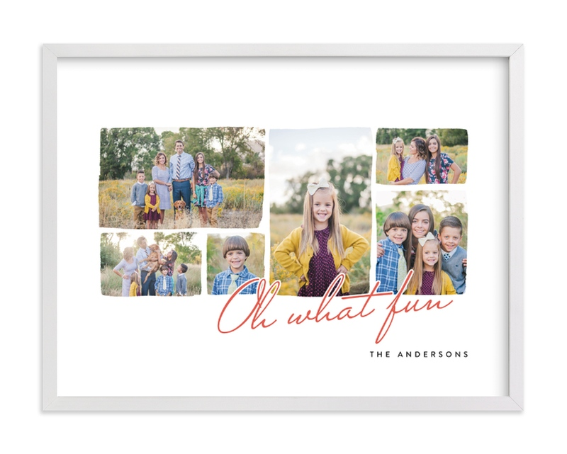 """Watercolor Collage"" - Custom Photo Art Print by Four Wet Feet Studio in beautiful frame options and a variety of sizes."