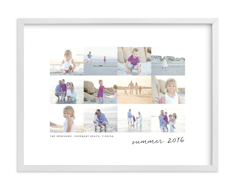 """Travel Collage"" - Custom Photo Art Print by Sara Hicks Malone in beautiful frame options and a variety of sizes."