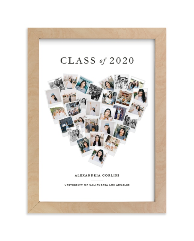 """""""Grad Heart Snapshot Mix® Photo Art"""" - Custom Photo Art Print by Minted in beautiful frame options and a variety of sizes."""