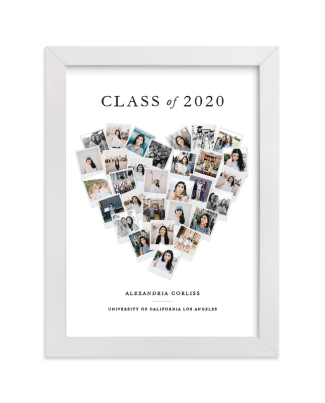 This is a colorful photo art by Minted called Grad Heart Snapshot Mix® Photo Art with standard.