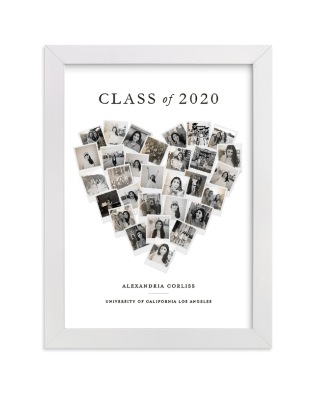 This is a beige photo art by Minted called Grad Heart Snapshot Mix® Photo Art with standard.