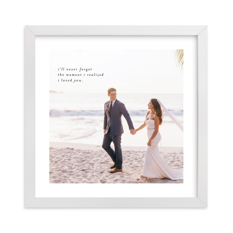 """""""Minimalist Quote Keepsake Square"""" - Custom Photo Art Print by Phrosne Ras in beautiful frame options and a variety of sizes."""