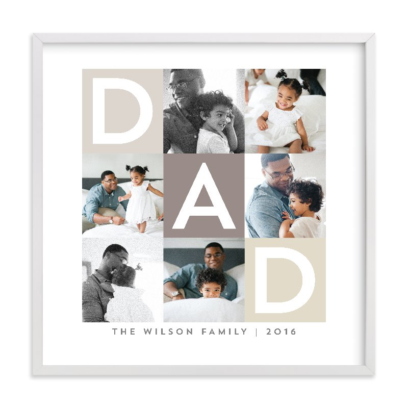 Best Dad Ever Boxes - Photo Collage Wall Decor