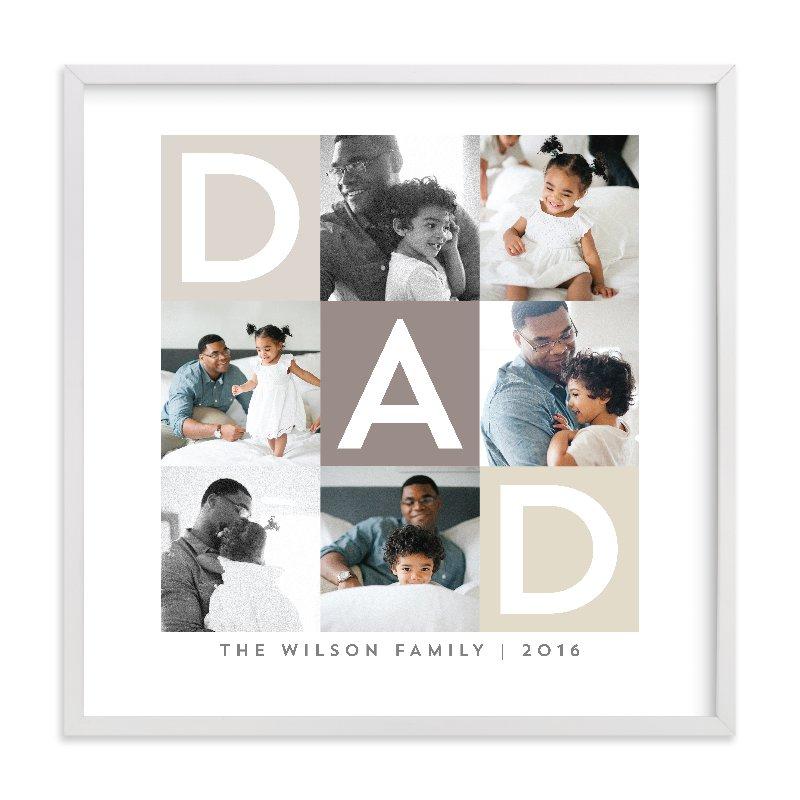 Best Dad Ever Boxes Custom Photo Art Print