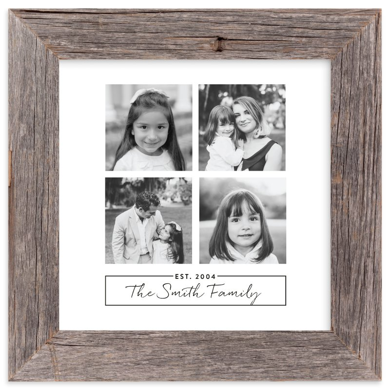 """Family of Four"" - Custom Photo Art Print by Ester M Nersisyan in beautiful frame options and a variety of sizes."