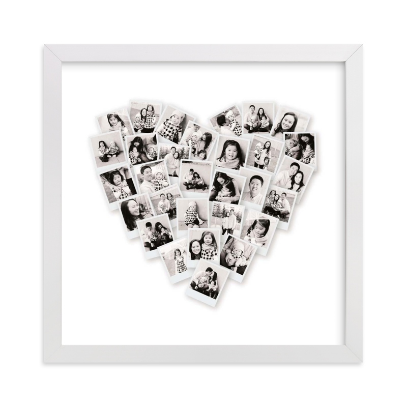 This is a black photo art by Minted called Filter Heart Snapshot Mix® Photo Art with standard.