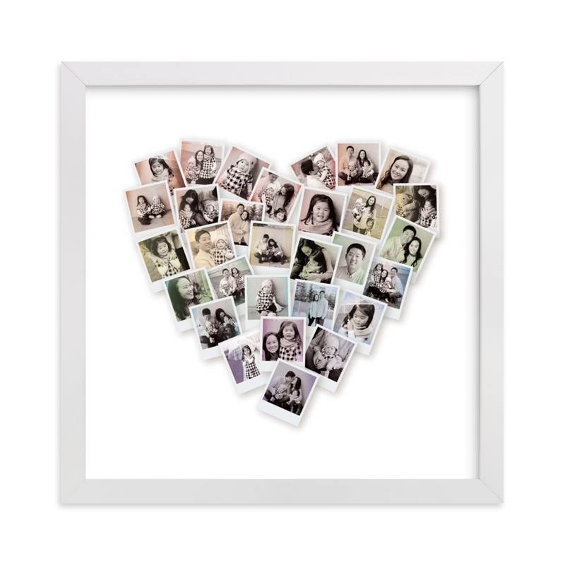 This is a colorful photo art by Minted called Filter Heart Snapshot Mix® Photo Art with standard.