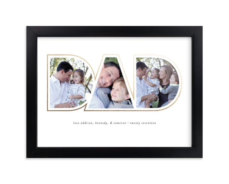 """""""Golden Dad"""" - Custom Photo Art Print by Beth Schneider in beautiful frame options and a variety of sizes."""