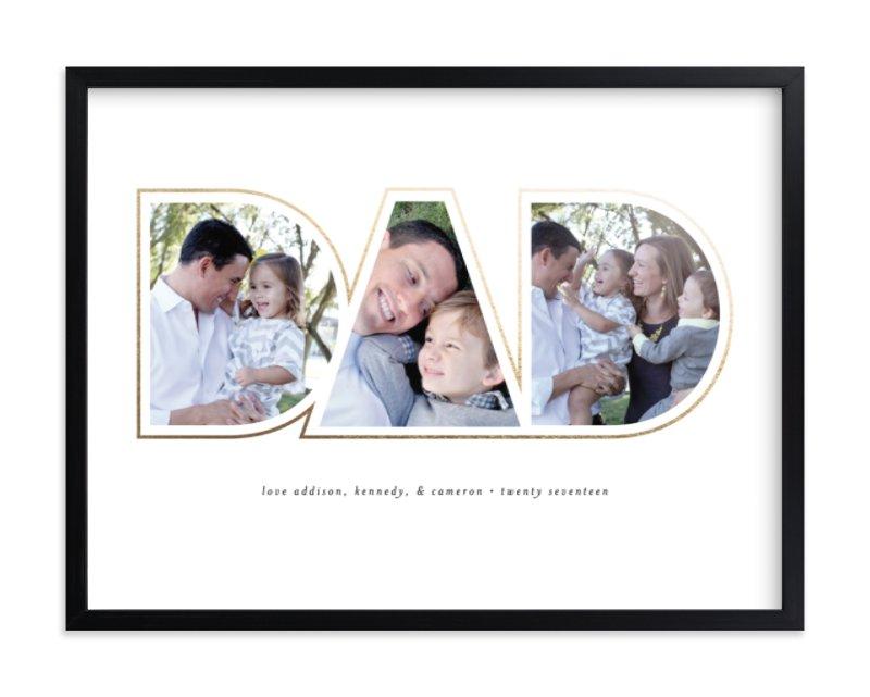 Golden Dad Custom Photo Art Print