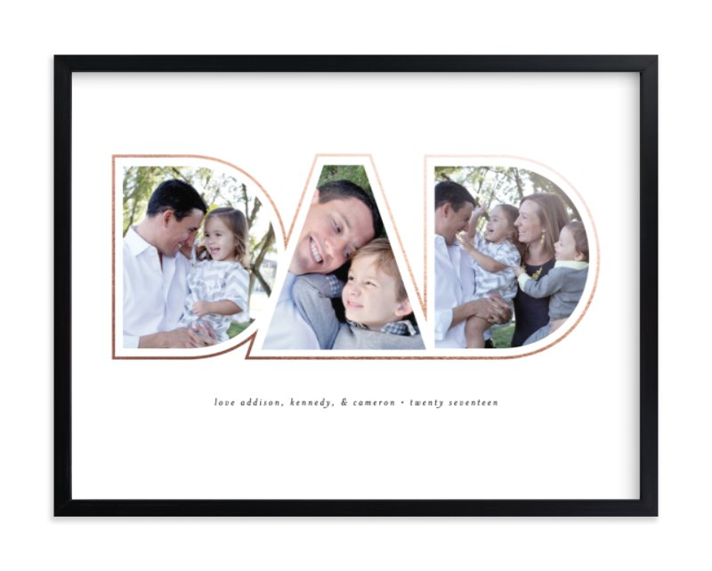 Golden Dad - Family Photo Collage Decor