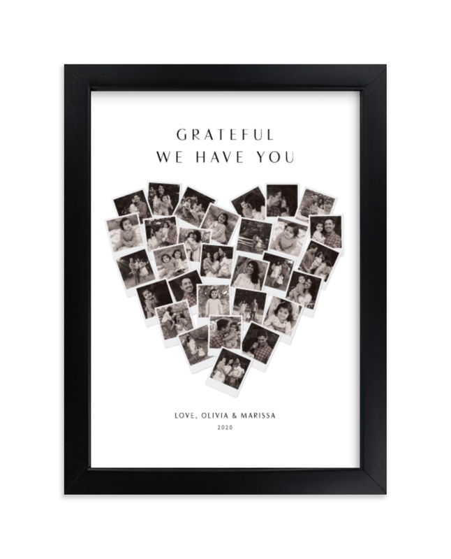 """""""Grateful Heart Snapshot Mix® Photo Art"""" - Custom Photo Art Print by Minted in beautiful frame options and a variety of sizes."""