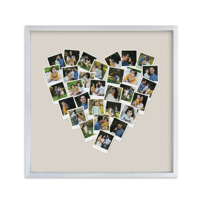 """Heart Snapshot Mix Hues® Photo Art"" - Custom Photo Art Print by Minted in beautiful frame options and a variety of sizes."