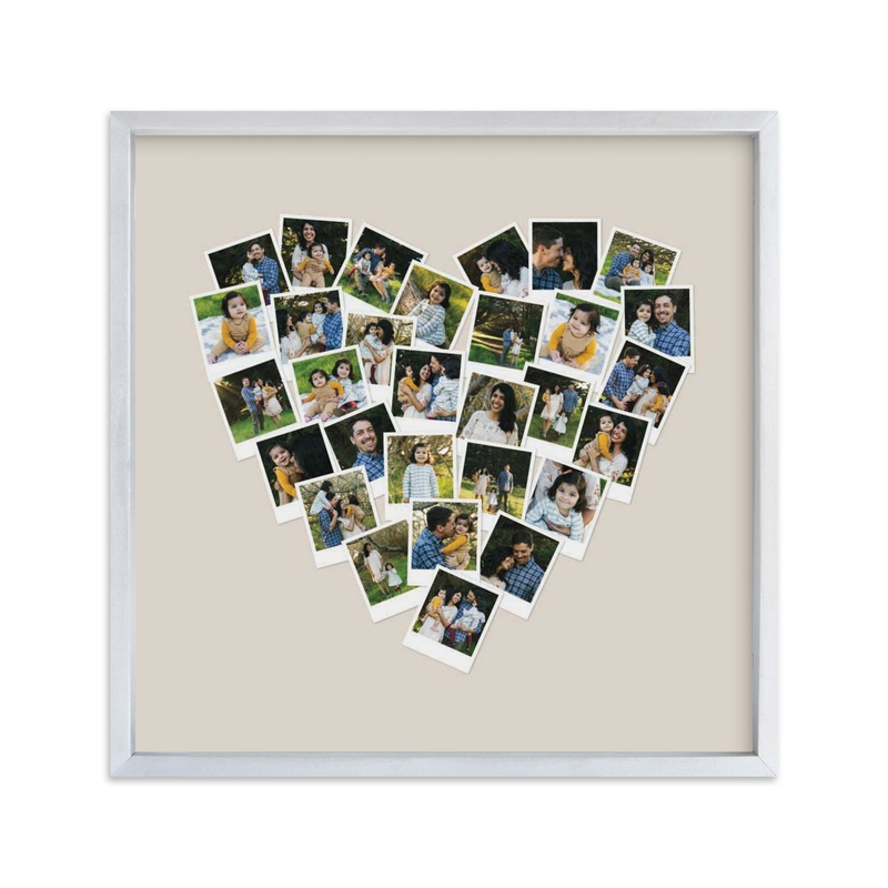 """""""Heart Snapshot Mix Hues® Photo Art"""" - Custom Photo Art Print by Minted in beautiful frame options and a variety of sizes."""
