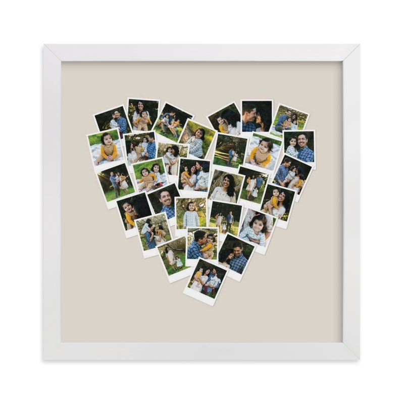 Heart Snapshot Mix Hues Photo Art Custom Photo Art Print