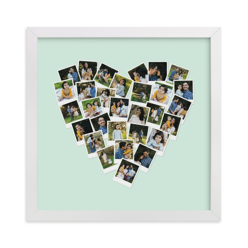 This is a green photo art by Minted called Heart Snapshot Mix Hues® Photo Art.