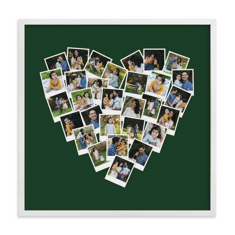 Heart Snapshot Mix® Hue Photo Art Custom Photo Art Print
