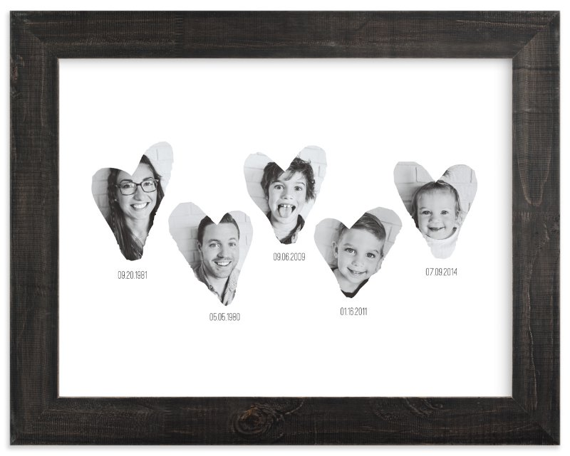 Family Timeline - photo collage wall decor