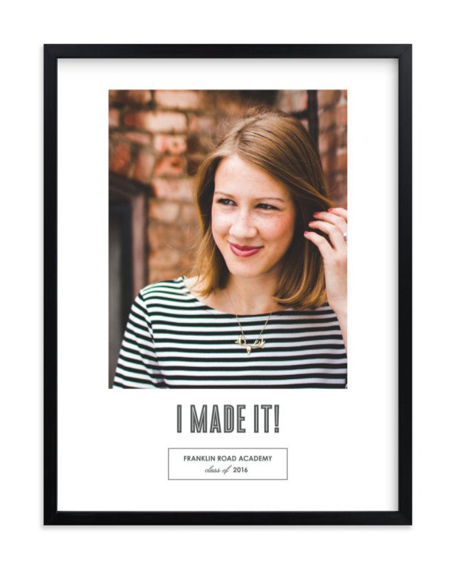 """Mod Grad"" - Custom Photo Art Print by Sara Hicks Malone in beautiful frame options and a variety of sizes."