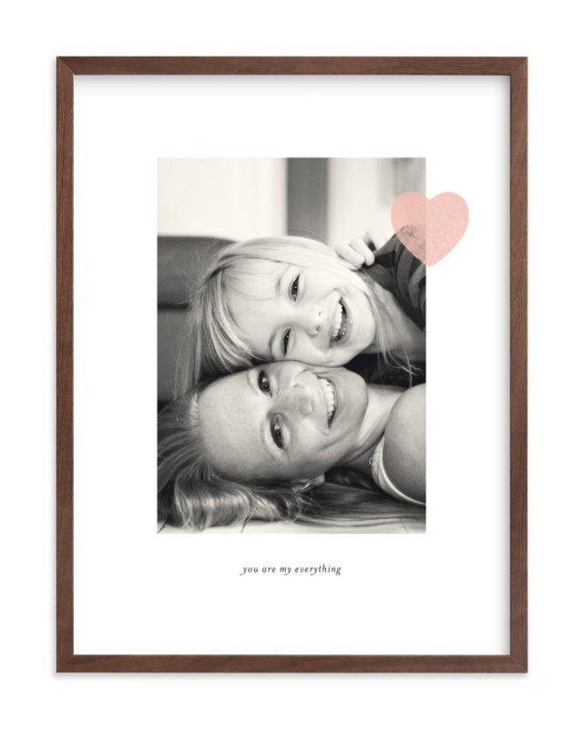 Mom Love Custom Photo Art Print