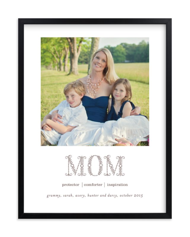 """""""Flower Mom"""" - Custom Photo Art Print by Sara Hicks Malone in beautiful frame options and a variety of sizes."""