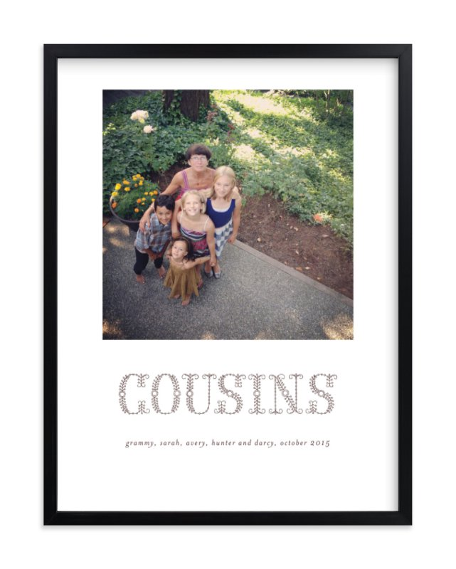 """Floral Cousins"" - Custom Photo Art Print by Sara Hicks Malone in beautiful frame options and a variety of sizes."