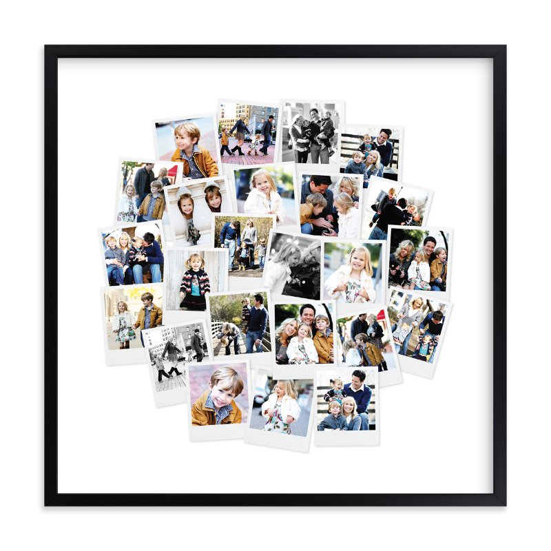 Circle Snapshot Mix® Photo Art Custom Photo Art Print