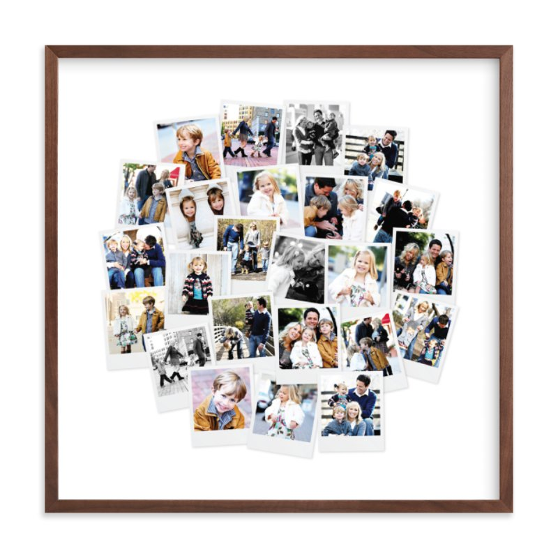 Circle Snapshot Mix® Photo Art Custom Photo Art Print