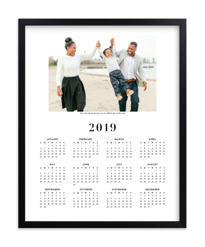 """Family Photo Calendar - 1"" - Custom Photo Art Print by Minted in beautiful frame options and a variety of sizes."