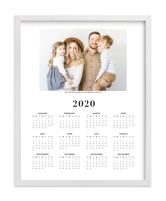 This is a black photo art by Minted called Family Photo Calendar - 1.