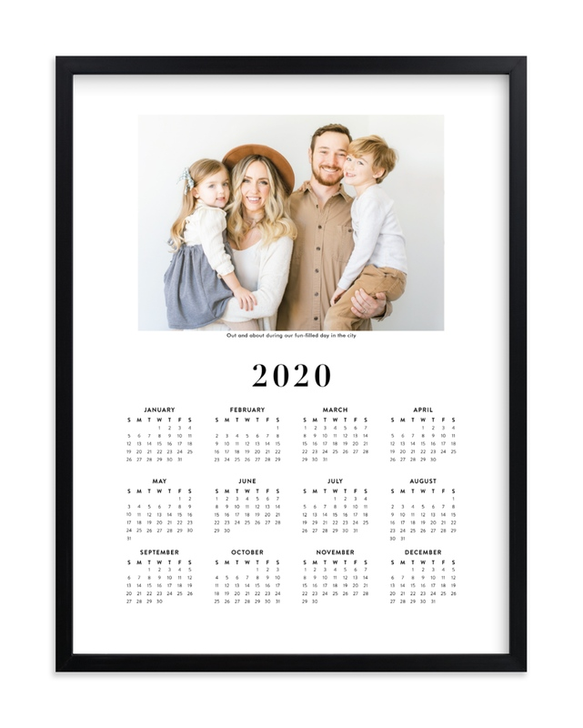 """""""Family Photo Calendar - 1"""" - Custom Photo Art Print by Minted in beautiful frame options and a variety of sizes."""