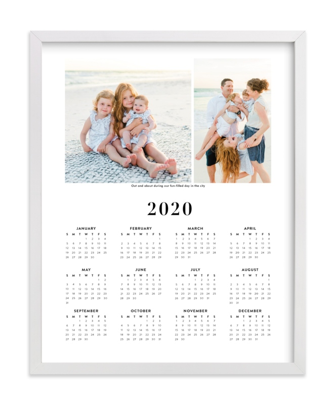 This is a black photo art by Minted called Family Photo Calendar - 2 with standard.