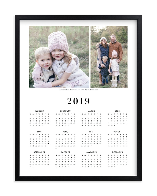 """""""Family Photo Calendar - 2"""" - Custom Photo Art Print by Minted in beautiful frame options and a variety of sizes."""