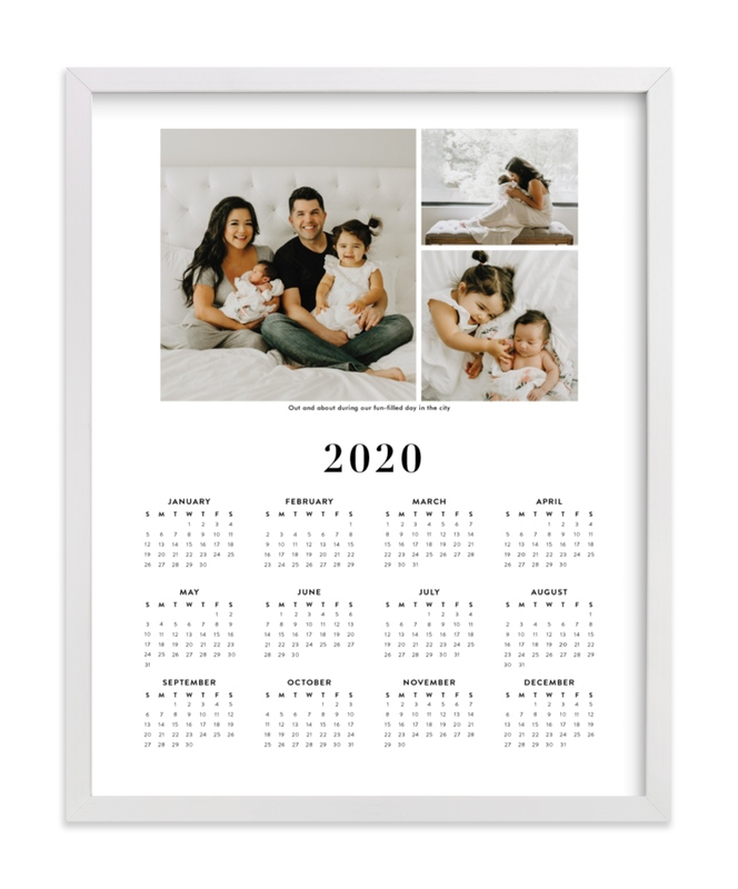 This is a black photo art by Minted called Family Photo Calendar - 3 with standard.