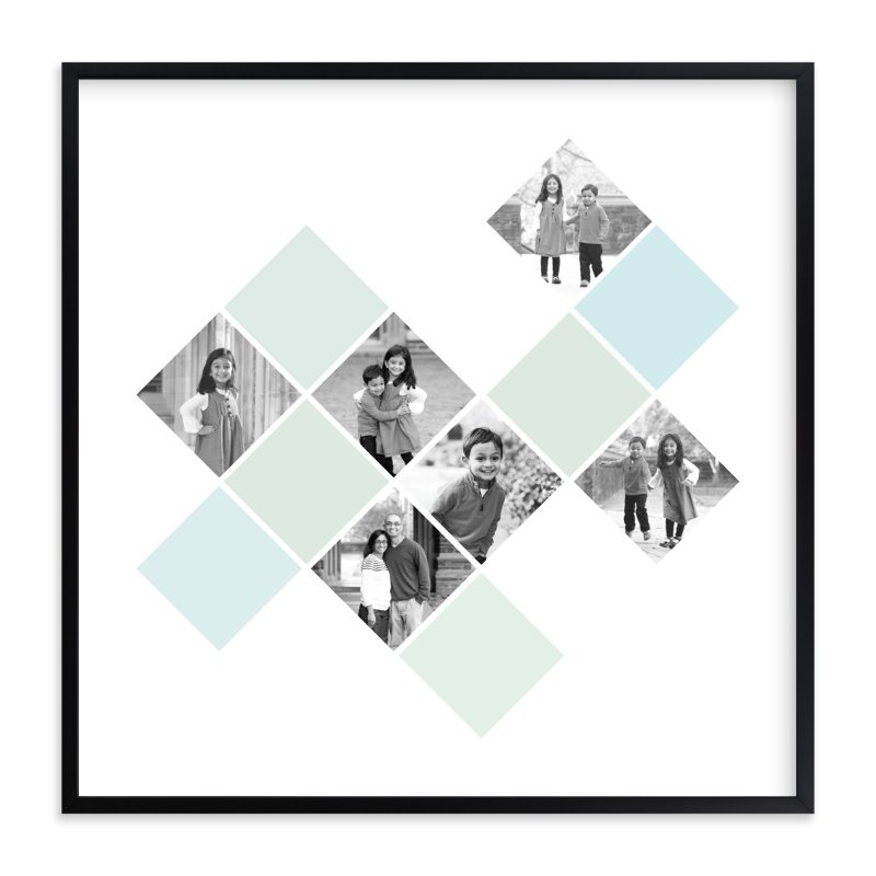 """""""Diamond Mosaic"""" - Custom Photo Art Print by Fig and Cotton in beautiful frame options and a variety of sizes."""