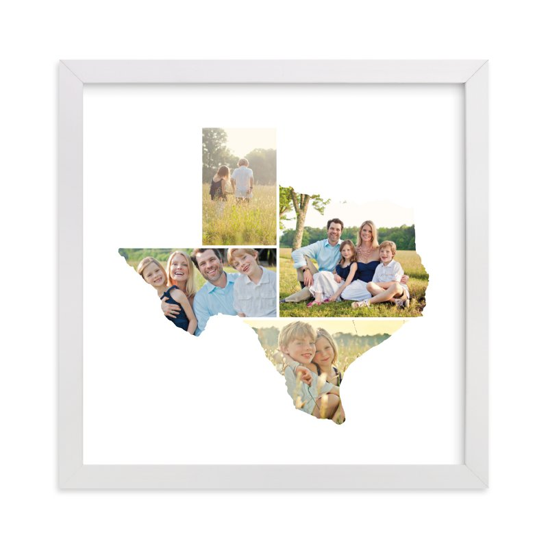 This is a white photo art by Heather Buchma called Texas Love Location with standard.