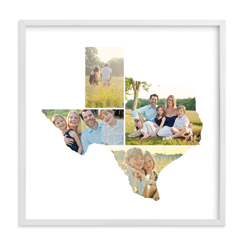 Texas Love Location Custom Photo Art Print