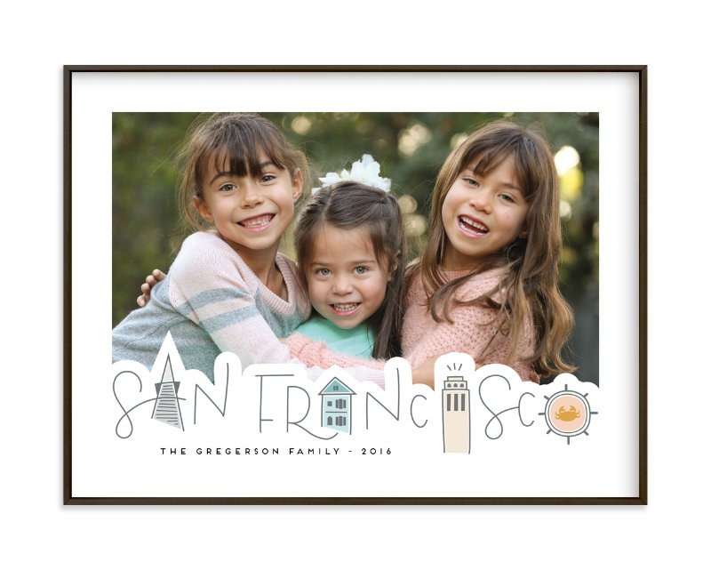 """""""San Francisco Landmarks"""" - Custom Photo Art Print by Olivia Goree in beautiful frame options and a variety of sizes."""