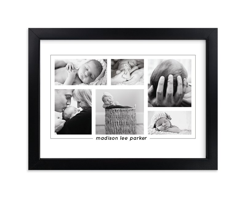 """Our Bundle of Joy"" - Custom Photo Art Print by Anupama in beautiful frame options and a variety of sizes."