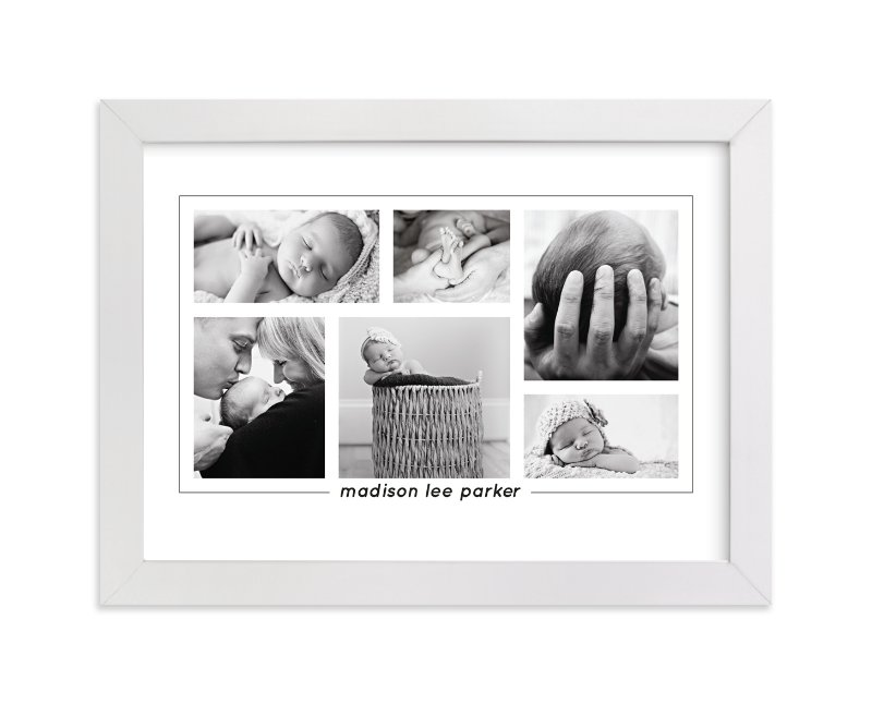 This is a black photo art by Anupama called Our Bundle of Joy with standard.