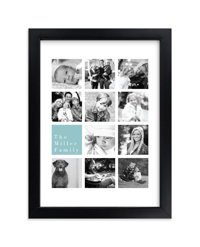 """Family Highlights"" - Custom Photo Art Print by Refound Nostalgia in beautiful frame options and a variety of sizes."