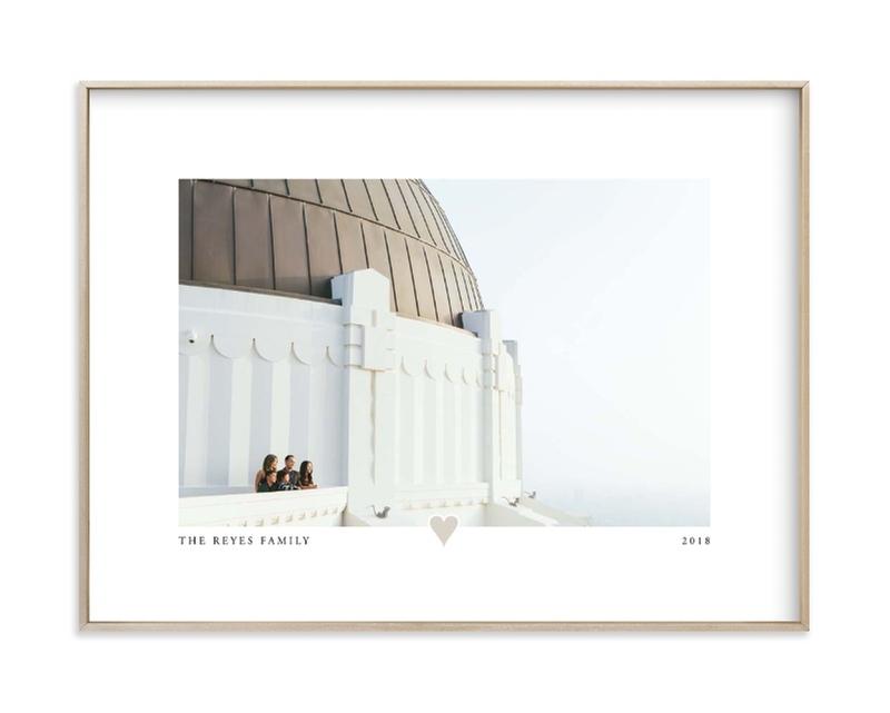 With a Heart - Landscape Custom Photo Art Print