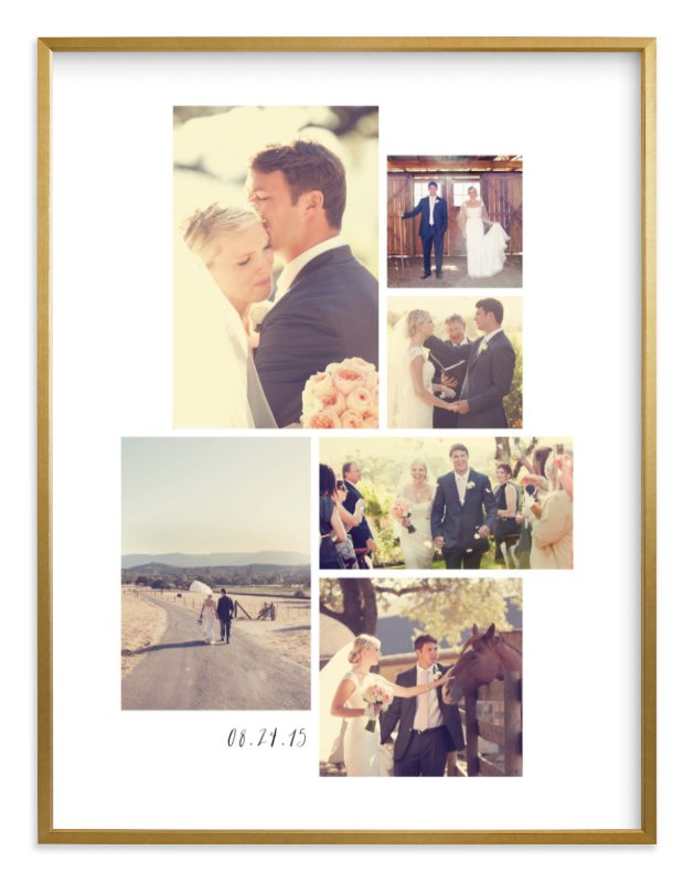 """""""Wedding Moments"""" - Custom Photo Art Print by Hooray Creative in beautiful frame options and a variety of sizes."""