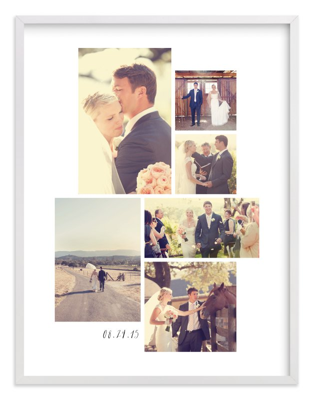 This is a white photo art by Hooray Creative called Wedding Moments.