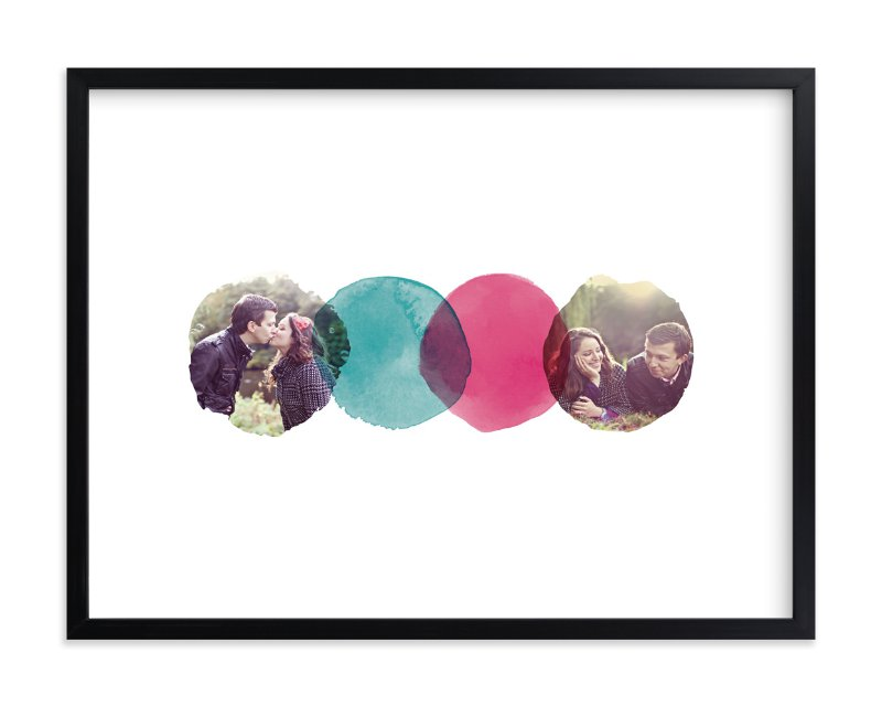 """""""Overlapping Watercolor Love"""" - Custom Photo Art Print by A Little Big Picture in beautiful frame options and a variety of sizes."""