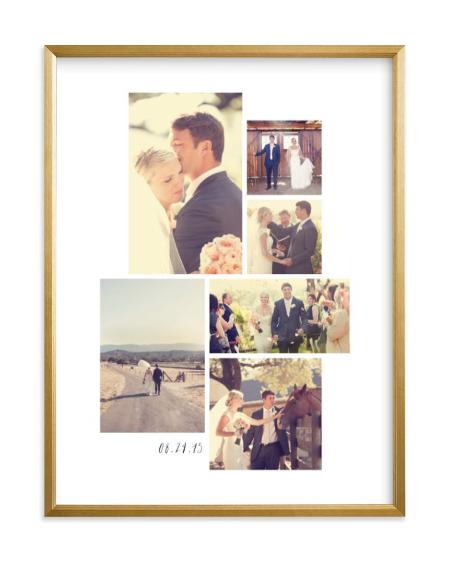 """Wedding Moments"" - Custom Photo Art Print by Hooray Creative in beautiful frame options and a variety of sizes."