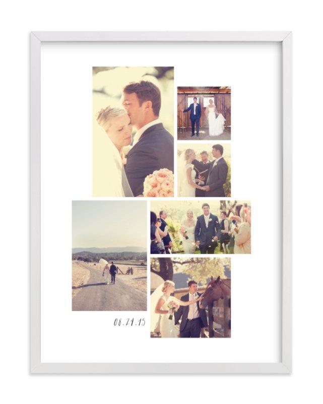 Wedding Moments Custom Photo Art Print