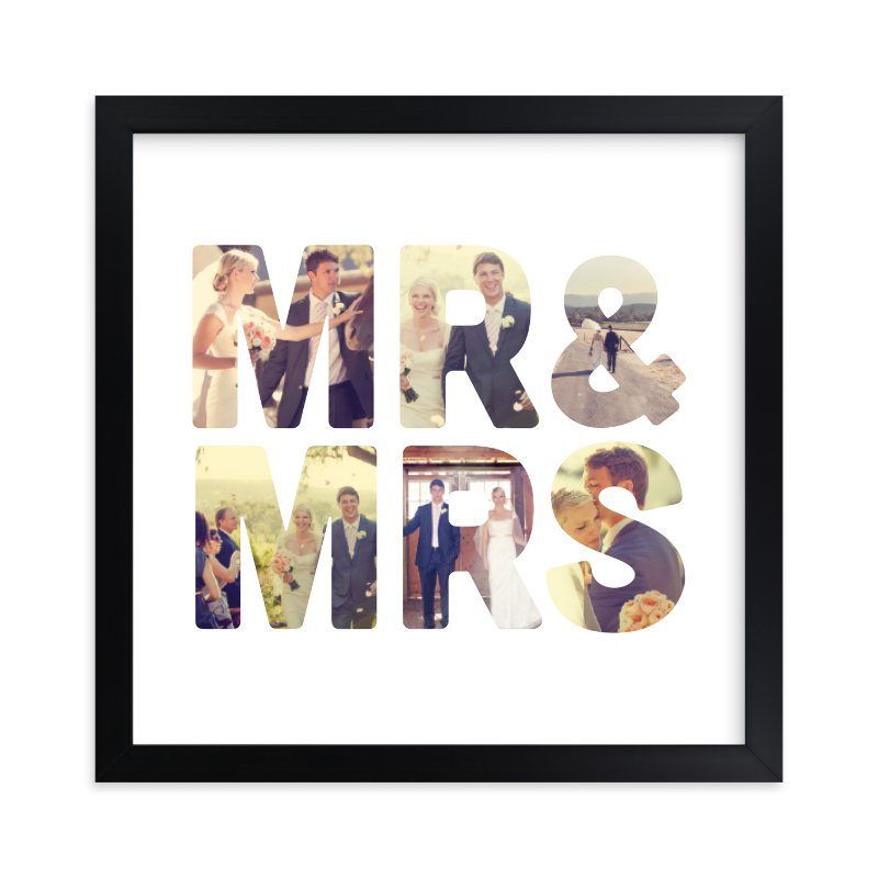 """""""Mr and Mrs"""" - Custom Photo Art Print by Katie Zimpel in beautiful frame options and a variety of sizes."""