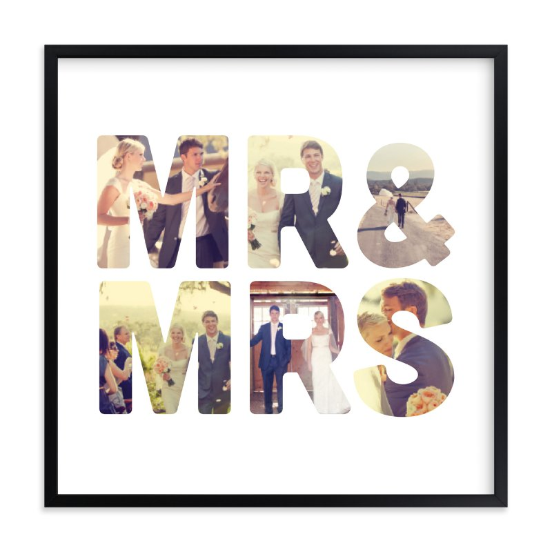 Mr and Mrs - family photo collage wall decor